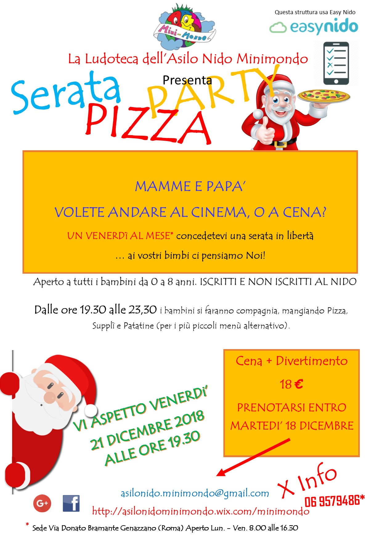 18 10 18 PIZZA PARTY BABBO NATALE